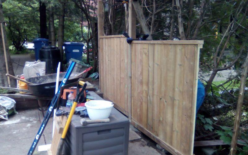 Construction de la clôture artisanale