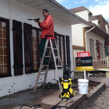 Peindre un façade en brique