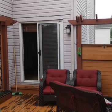 Reconstruction d'un patio + toiture